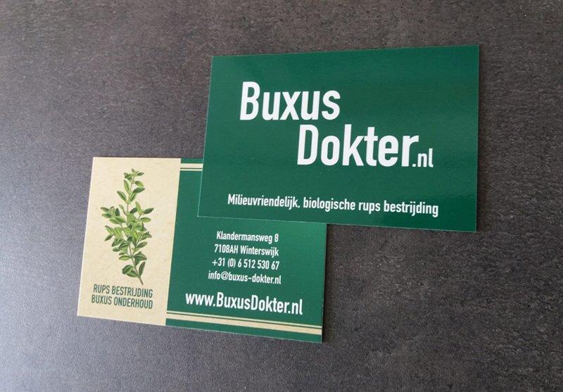 Buxus-Dokter-visitekaartjes